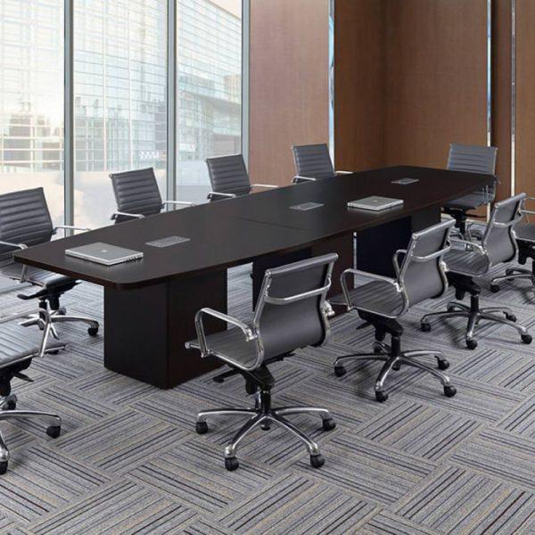 boat shape conference table cubed