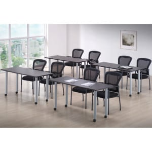 Tables 24x60, Silver Post Legs, Casters
