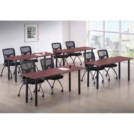 Economical, Black, Post Leg Training Tables