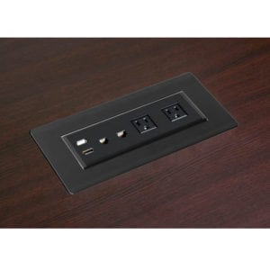 power module black for office table