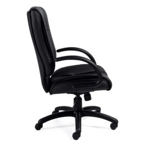 Plush Manager High Back Leather Office Chair - Black