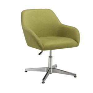 Fabric Reception Chair Retro - Green