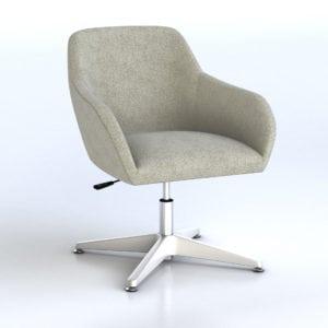 Swivel Reception Chair Retro Style - Gray