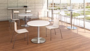 Stackable Office Chairs - Matching Stools