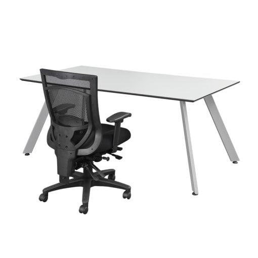 White Desk - Modern V-Leg