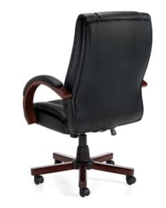 Executive Chair With Wooden Arms and Base
