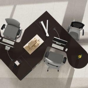 Zira Desk open plan