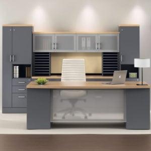 Zira Executive Desk Set With Ample Storage