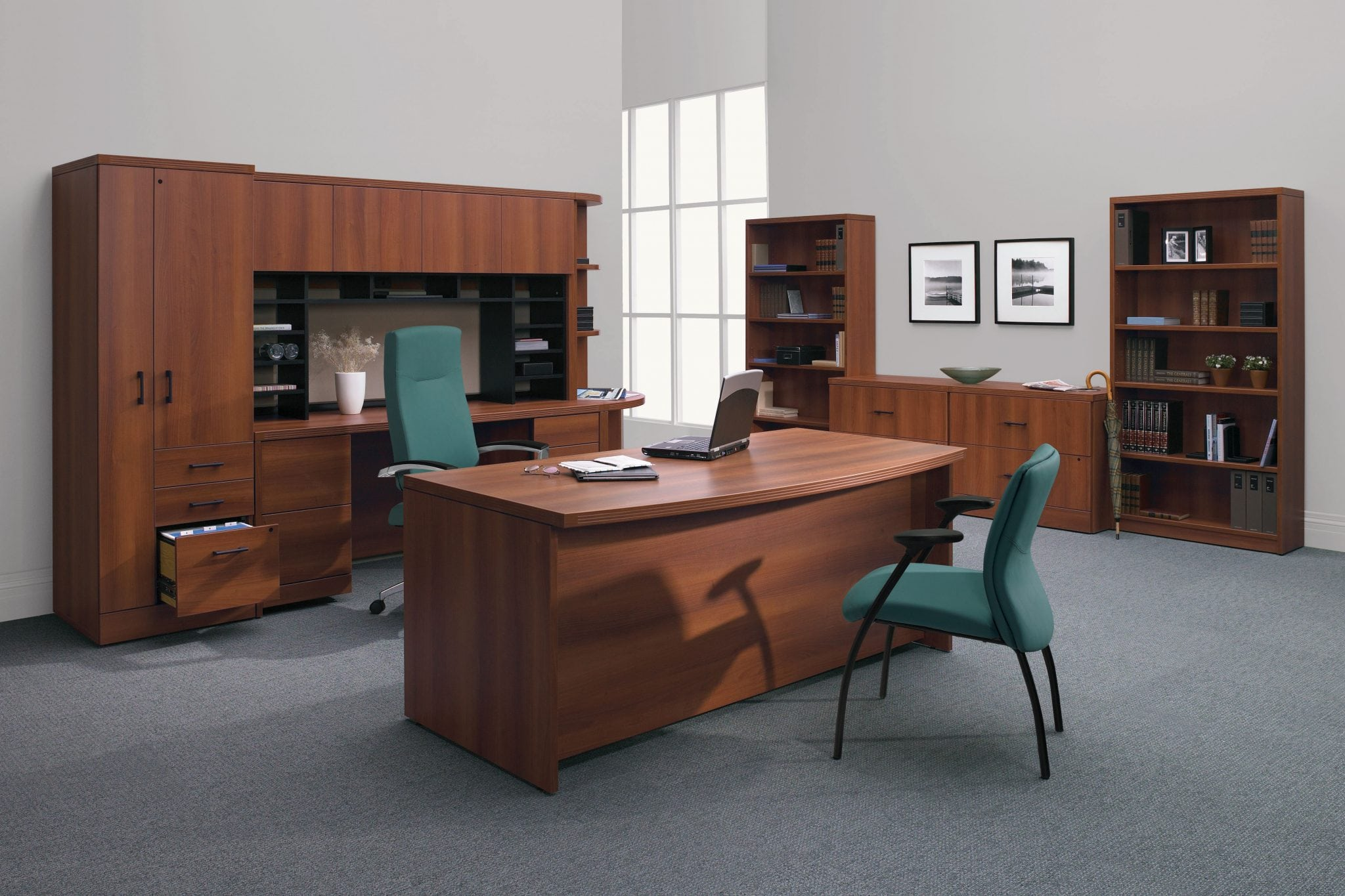 Correlation Executive Desk - Provides a variety of solutions to completely furnish the private office
