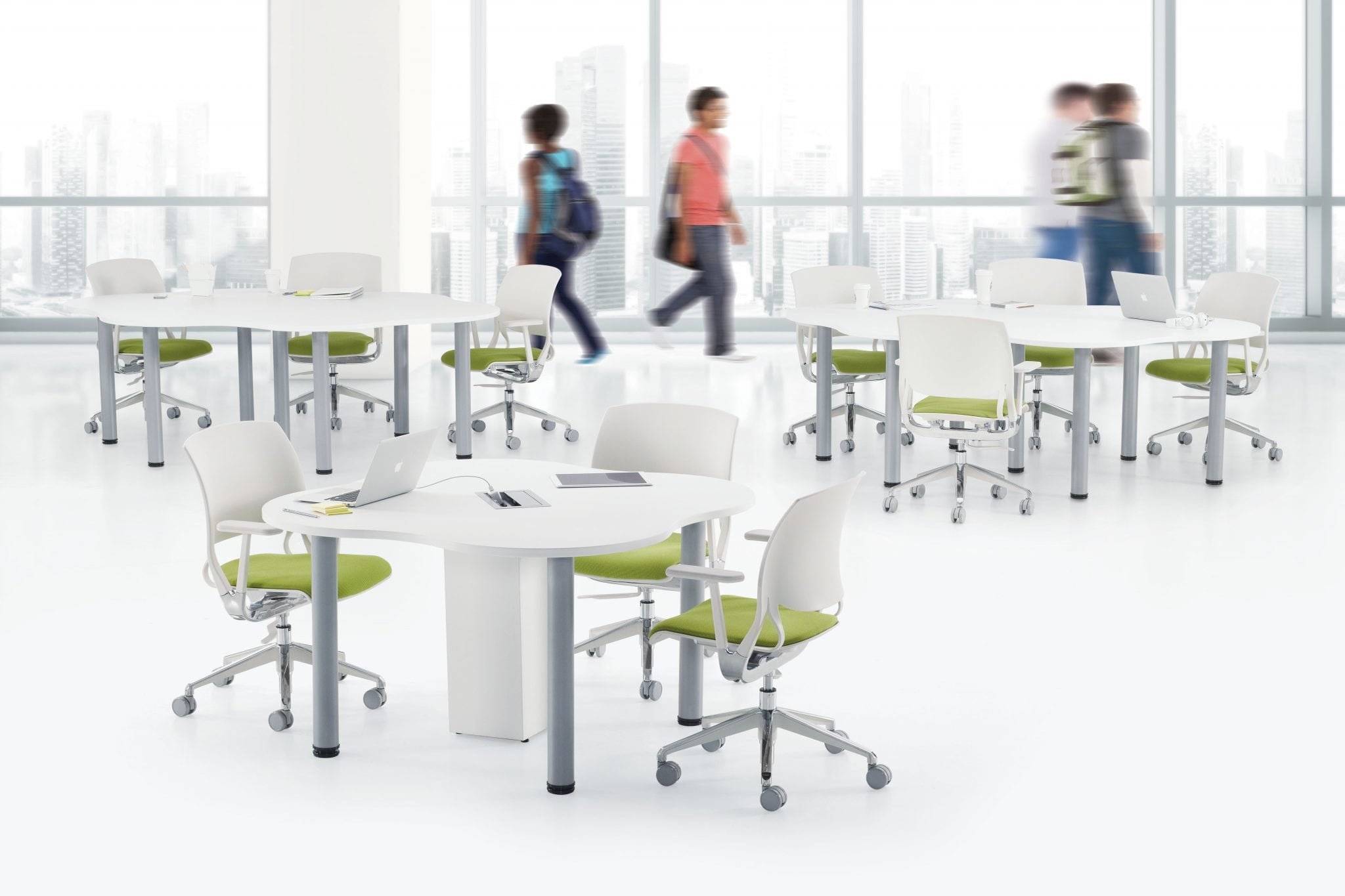 Zook Tables can be used for study groups, cafeterias, or meetings
