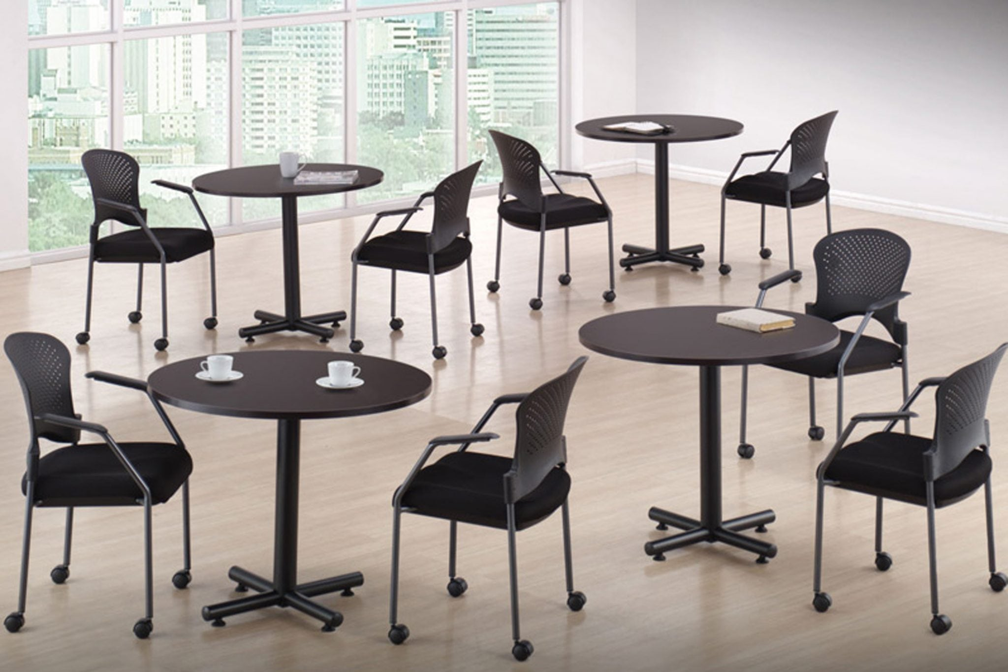 Round Multi-Purpose Tables are an affordable, durable and attractive solution for your lunchroom or breakroom needs.