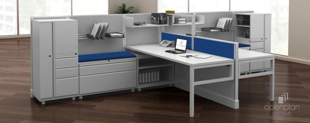 Open Office Desking System - L-Shape Desk Divider