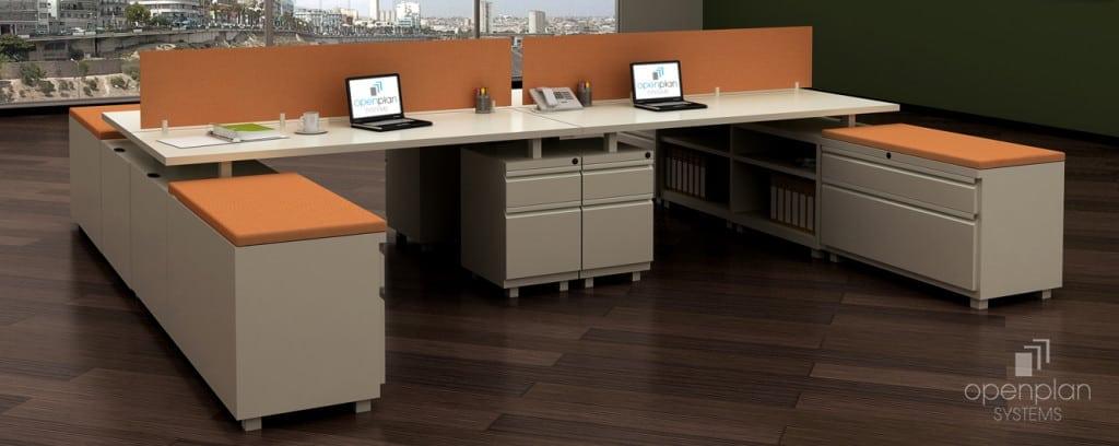 Open Plan Desking System - U-Shape Divider