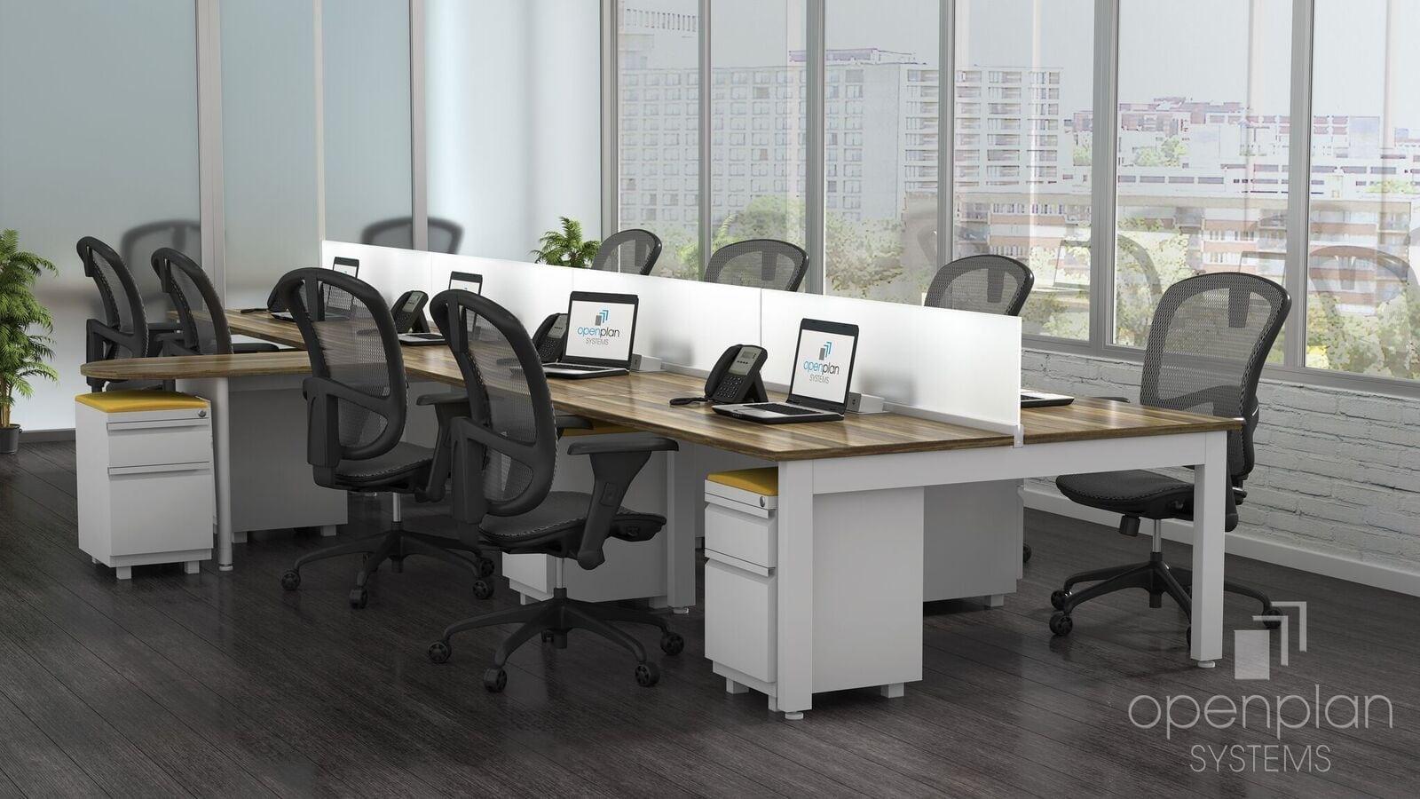 Open Office Desking System - XP Glass Divider