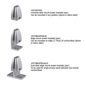Desk Privacy Panels - Fabric