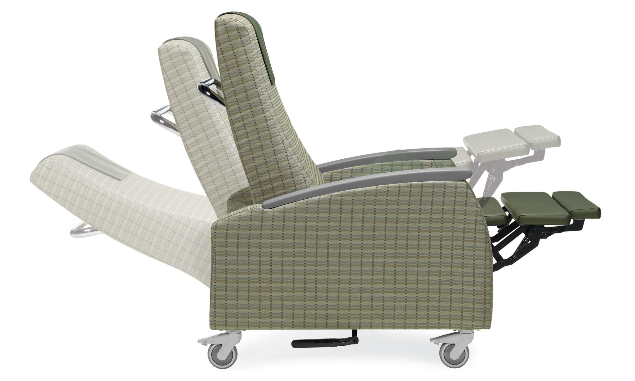 The Primacare recliner is ideal for in-room guests of all ages