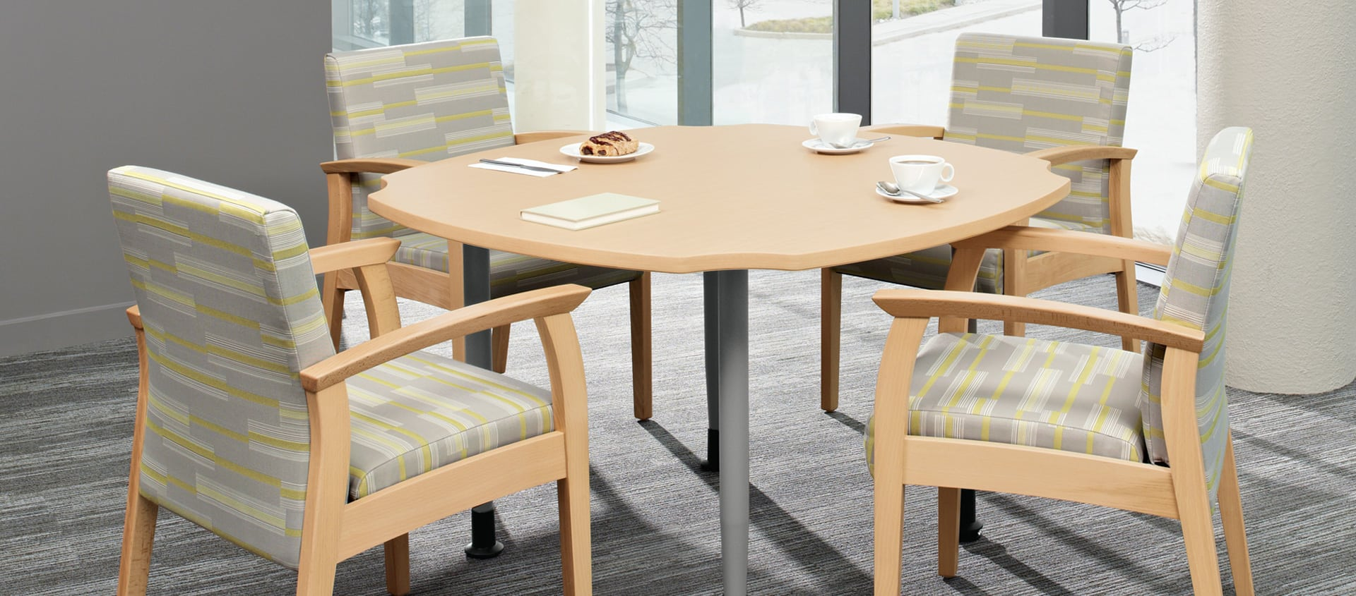 Global Floral Table & Chair Set