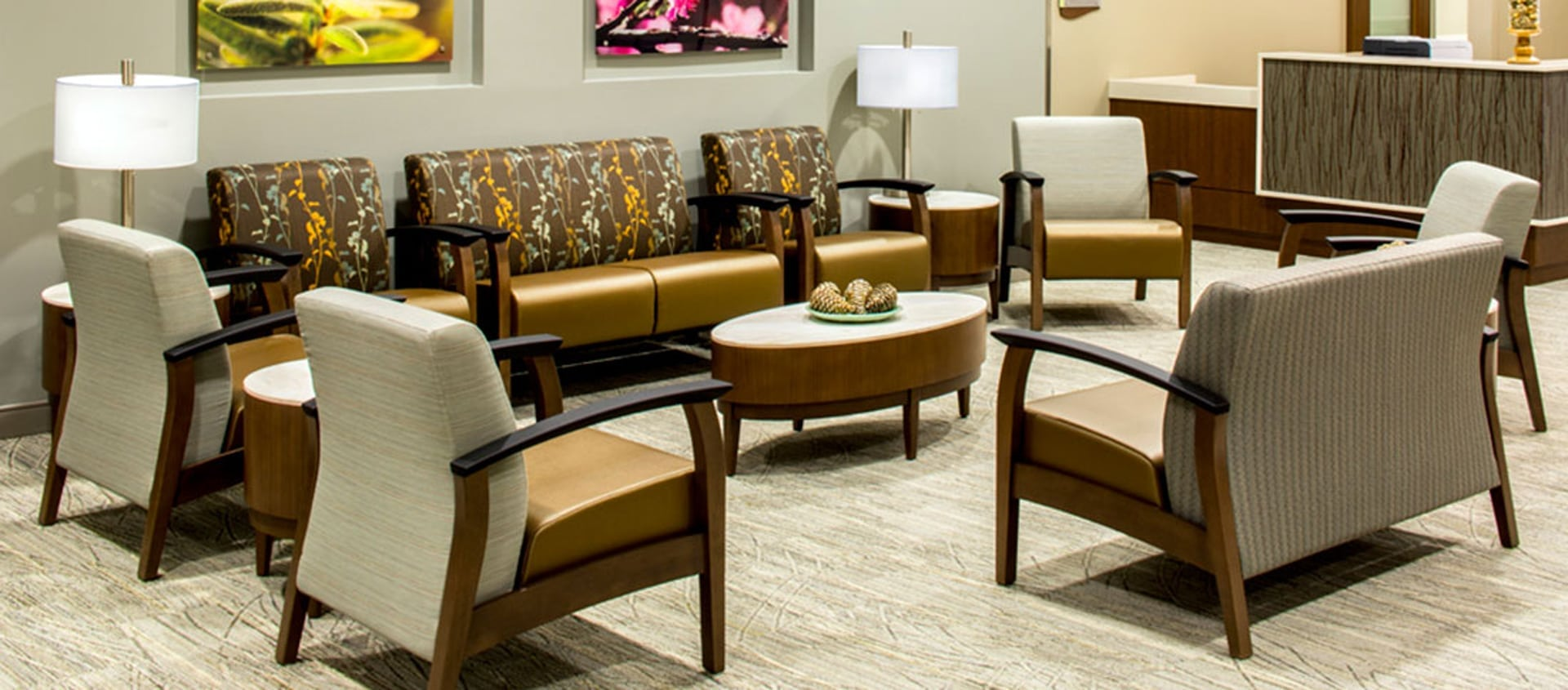 The Global Furniture Group offers a variety of fabrics and patterns to create your look and feel