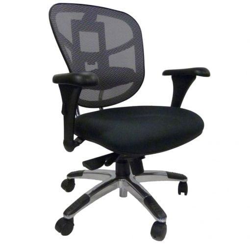 mesh back padded seat