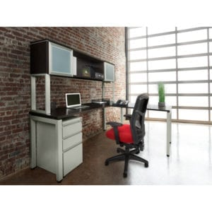 dividing your office space on a budget desk against a wall