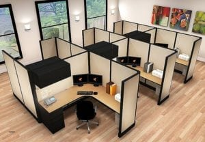 dividing office space on a budget cubicles