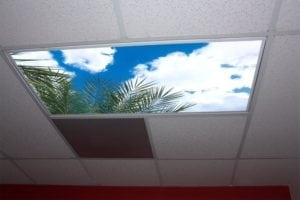 sky panels for outdated office
