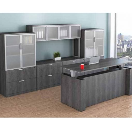 Height Adjustable Desk With Filing and Storage
