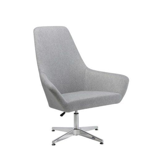 Fabric Swivel Chair - High Back