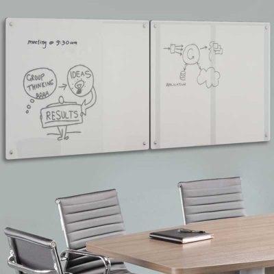 Glass Dry Erase Board Wall Mount