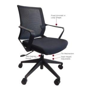 Julia Mid Back Mesh Chair
