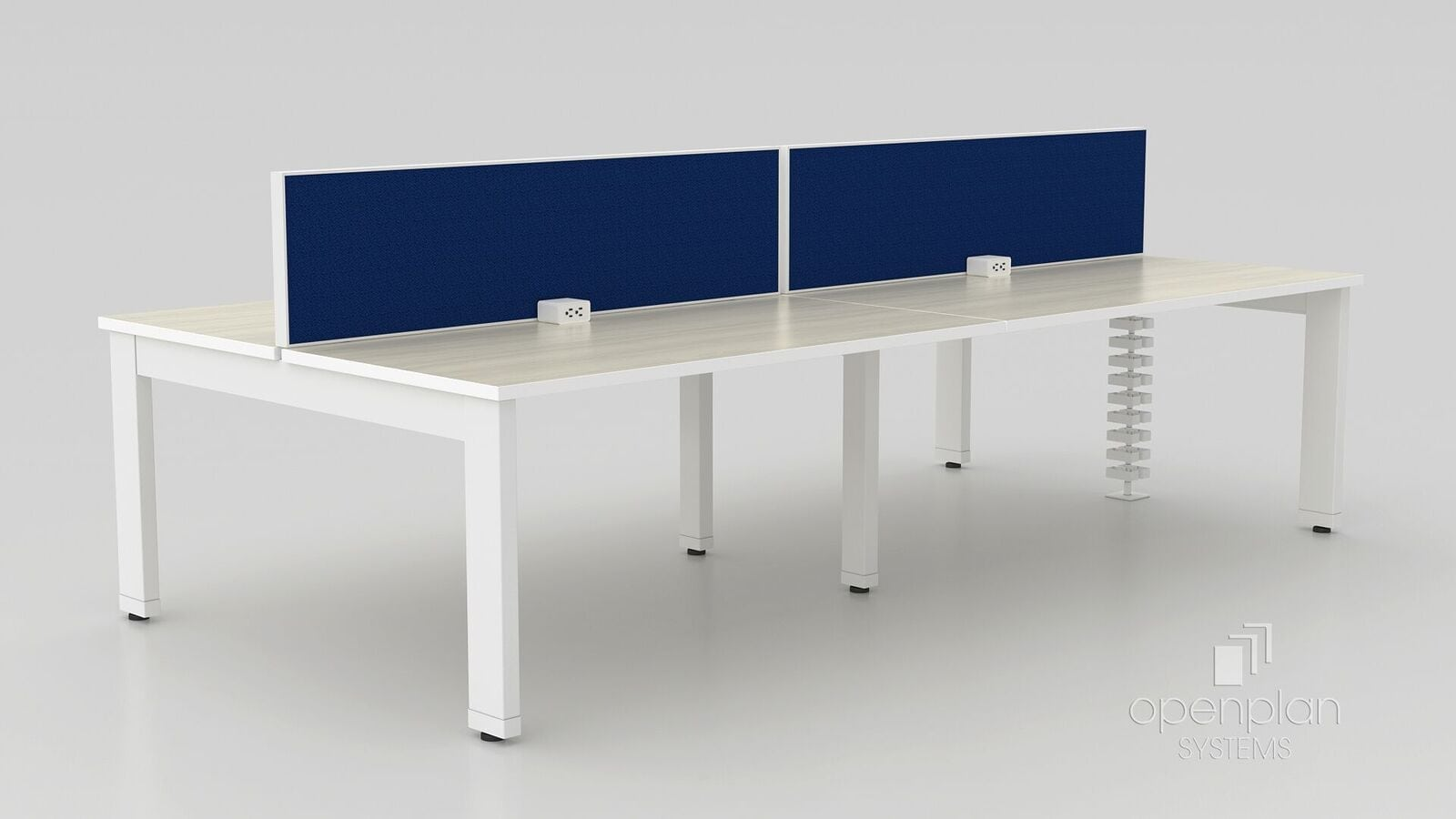 worktable with fabric barrier