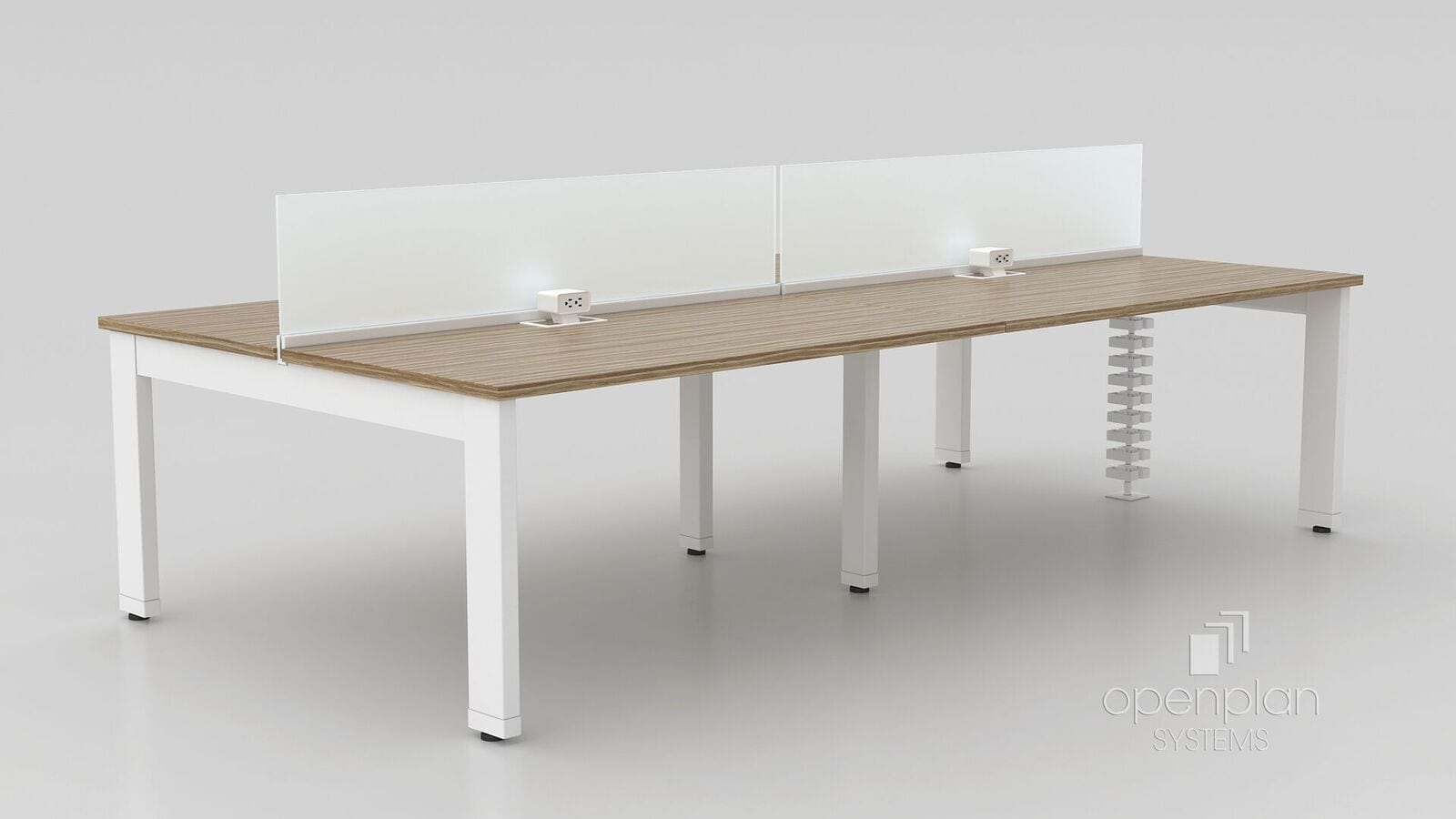 worktable with privacy barriers