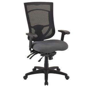 high back ergonomic chair gray seat