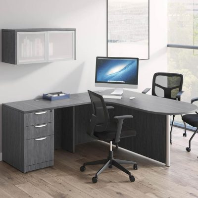 Bullet Desk With Wall Storage