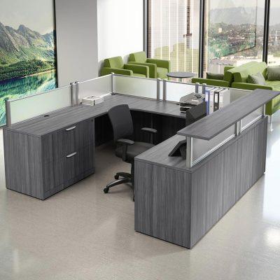 u-shaped reception desk