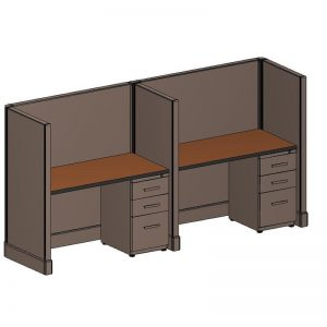 2x4' QuickTime Telemarketing Cubicles