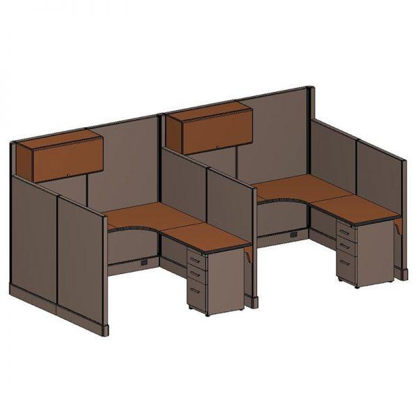 6x6' QuickTime Hi-Low Cubicles