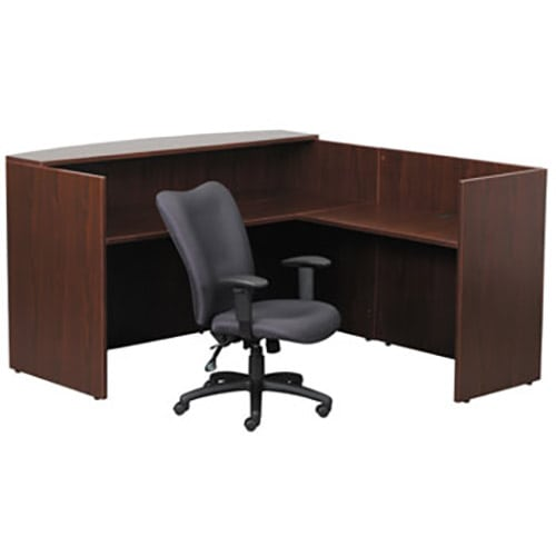 Basic Reception L Desk With Small Countertop