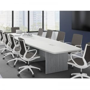 Boat Shape Conference Table 8-20 feet, Panel Leg