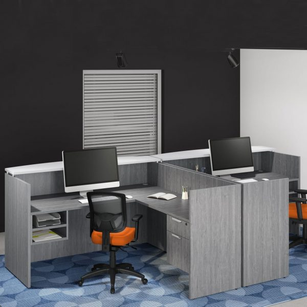 Double Reception Desk Station - Affordable & Stylish