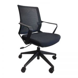 Julia Mid Back Mesh Chair - Black