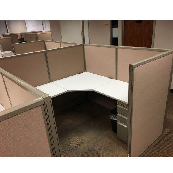Mid-Height Used Cubicles - Maxon Workstations - Seated Privacy