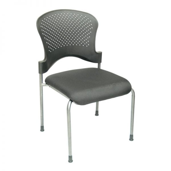 Plastic Back, Fabric Seat Stacking Chair