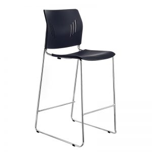 Colorful Poly Chrome Bar Stool