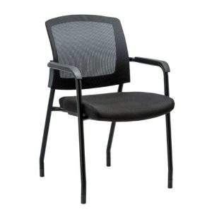 "Stylish Mesh Back Stacking Guest Chair - ""The Baker"""