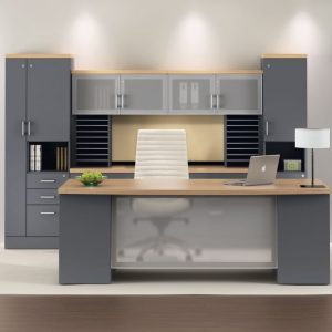 Zira Executive Desk Set With Ample Storage