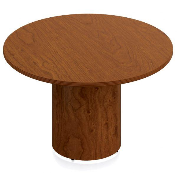 "Round Reception Table - Wood Veneer 42"" & 48"""