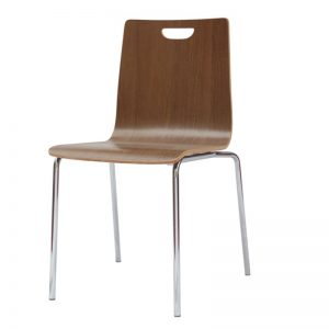 "Stackable Chair - Sleek, Minimalist Design - Wooden ""Bleeker Street"""