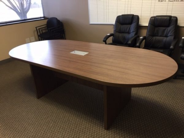 8 Foot Racetrack Conference Table - Gently Used