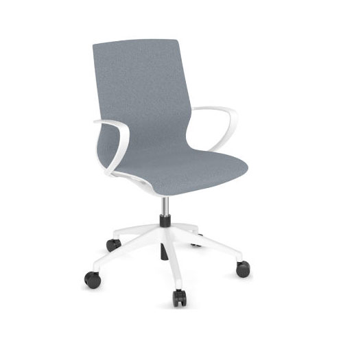 Mid Back Office Chair With White Frame - The Marics